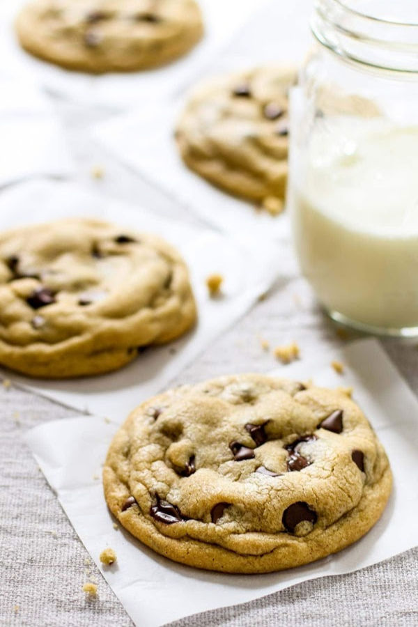 Best soft chocolate chip cookies fresh from the oven